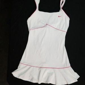Large Nike White Tennis Dress w/Pink trim